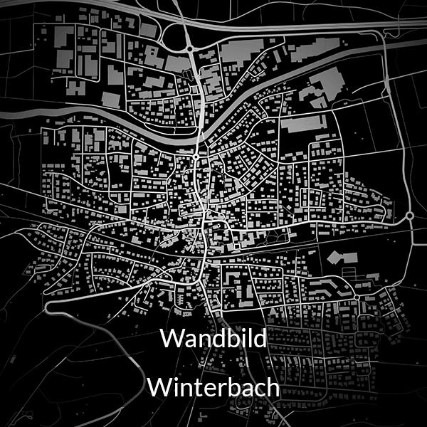 Wandbild Winterbach